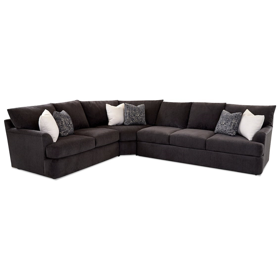 Findley 3-Piece Sectional Sofa w/ RAF Sofa by Klaussner at Johnny Janosik