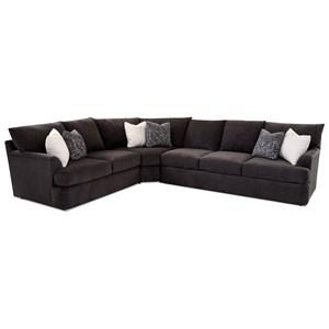 3-Piece Sectional Sofa w/ RAF Sofa