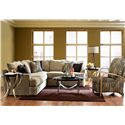 Klaussner Findley Contemporary L-Shaped Sectional Sofa - K56830L S+R CRNS