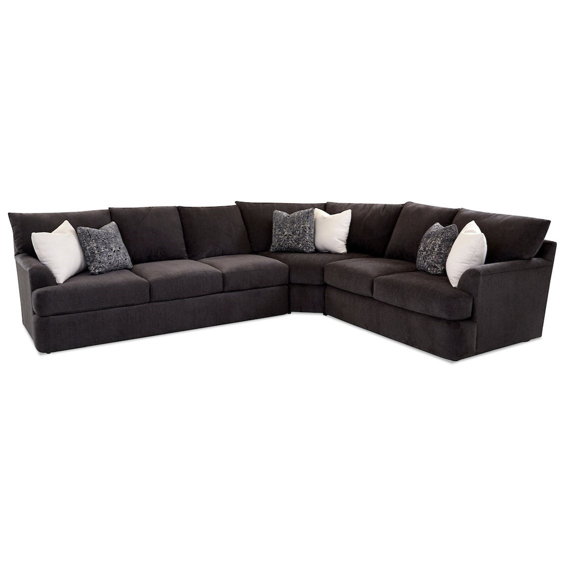 Findley 3-Piece Sectional Sofa w/ LAF Sofa by Klaussner at Johnny Janosik