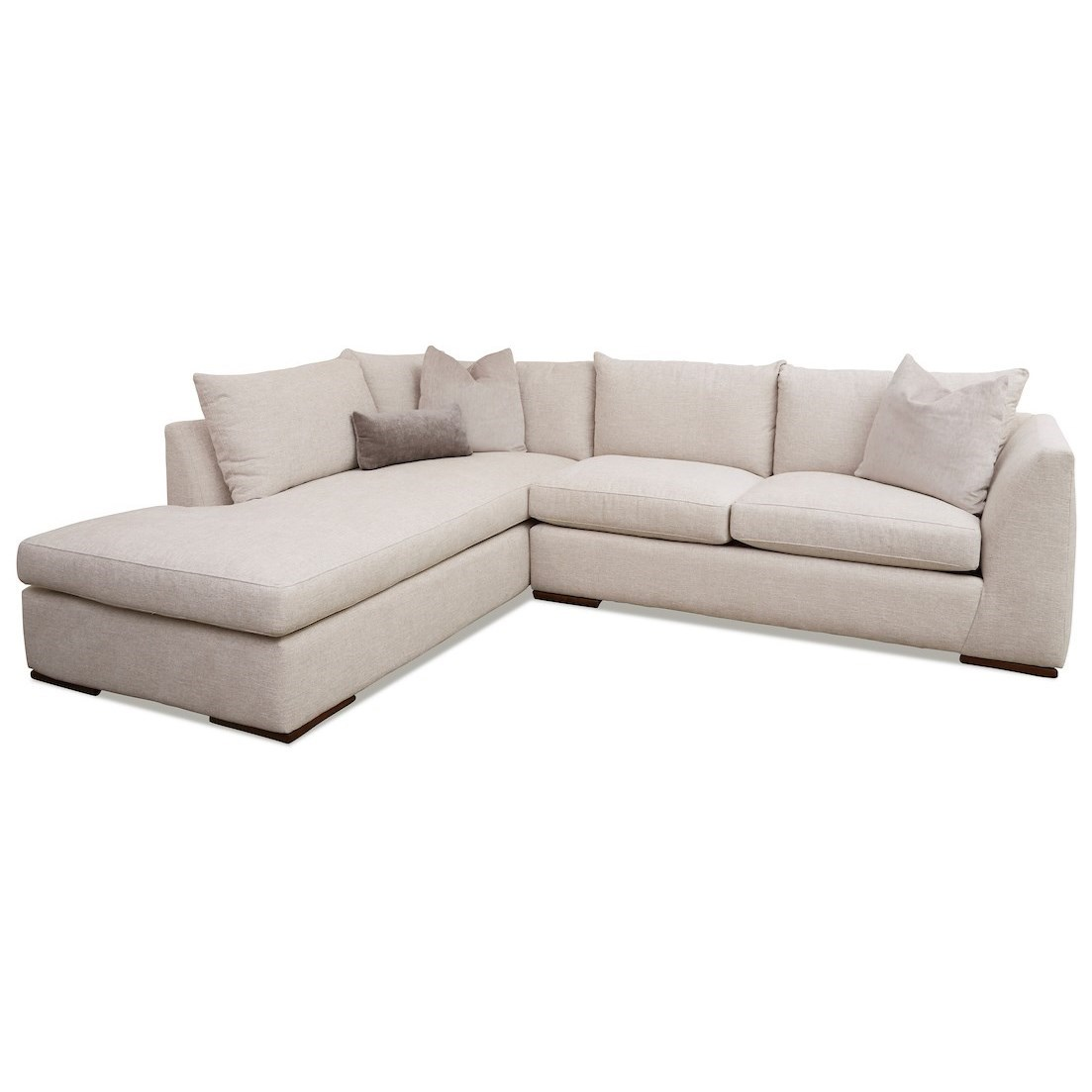 Flagler 2-Piece Sectional Sofa w/ LAF Sofa Chaise by Klaussner at Johnny Janosik