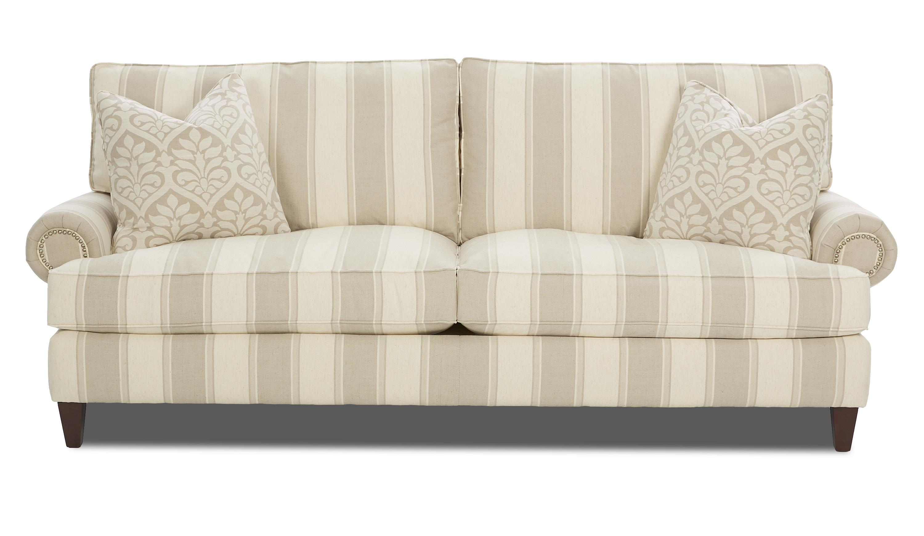 Klaussner Flannery Traditional Stationary Sofa - Item Number: D42710 S-ConnorLinen