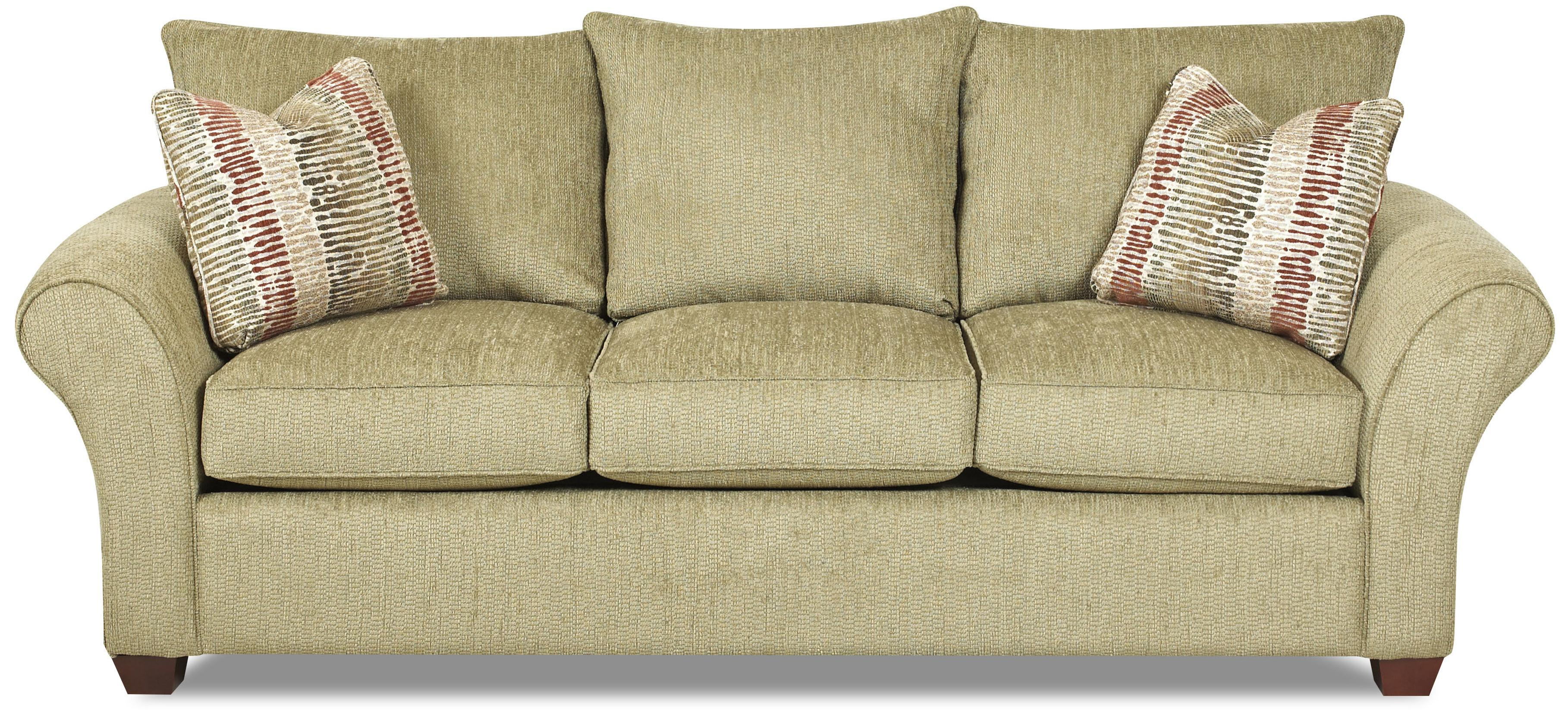 Fletcher Comfortable Stationary Couch By Klaussner Wolf