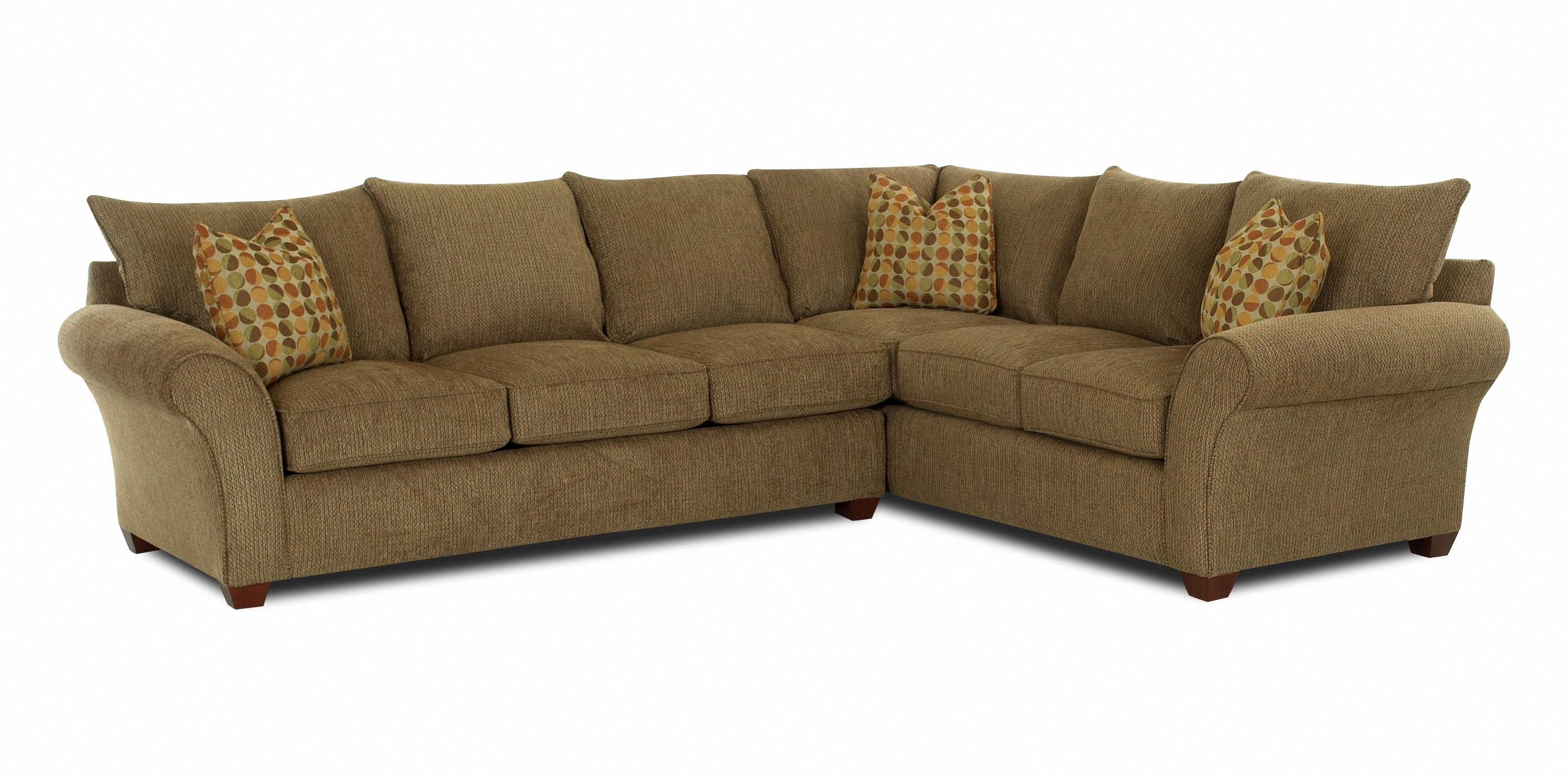 Fletcher Transitional 2 Piece Sectional Sofa by Klaussner at Johnny Janosik