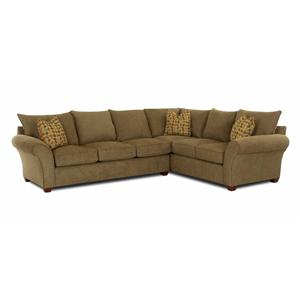 Klaussner Fletcher Transitional 2 Piece Sectional Sofa