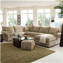 Klaussner Fletcher Spacious Sectional with Chaise Lounge