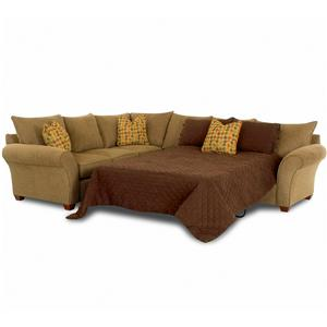 Klaussner Fletcher Sectional Sofa with Sleeper