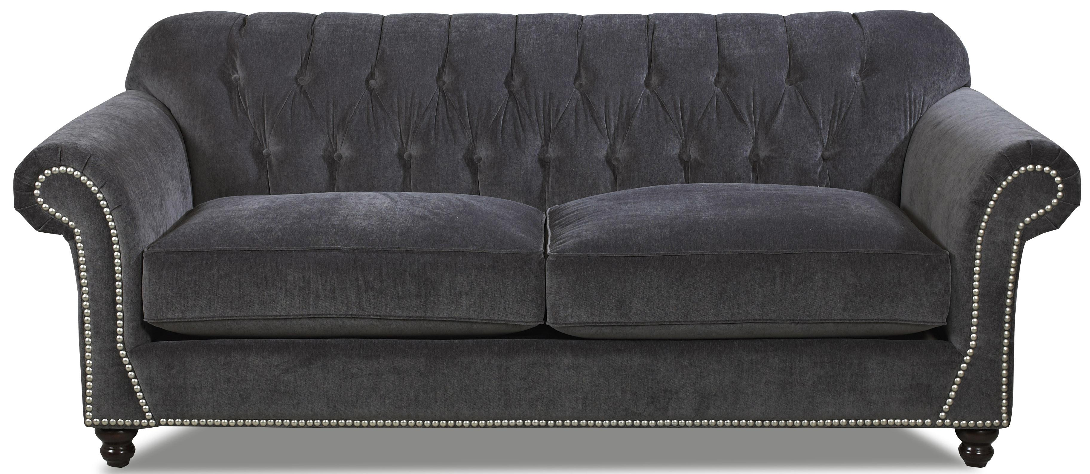 Flynn Traditional Sofa With Button Tufted Back And Rolled Arms By Klaussner