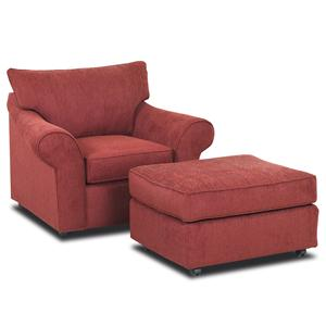 Klaussner Folio Chair and Ottoman Set