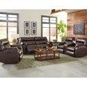 Klaussner Freeman Casual Power Recliner with Pillow Top Arms