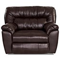 Klaussner Freeman Casual Recliner with Pillow Top Arms