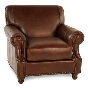 Simple Elegance Abilene Leather Arm Chair