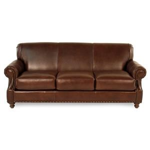 Simple Elegance Abilene Traditional Leather Sofa
