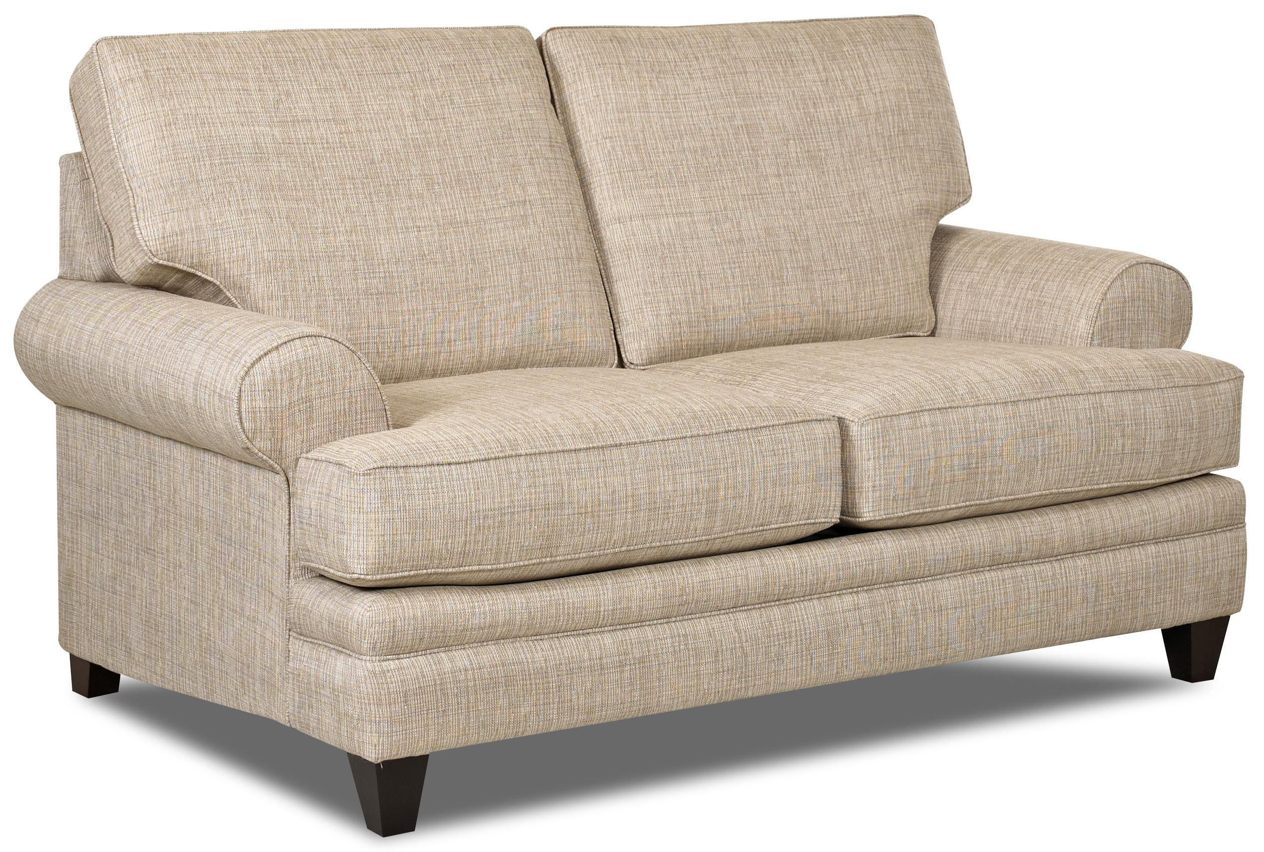 Klaussner Fresno Transitional Loveseat With Low Profile