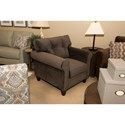 Klaussner Gates Casual Chair with Button Tufted Back Cushion