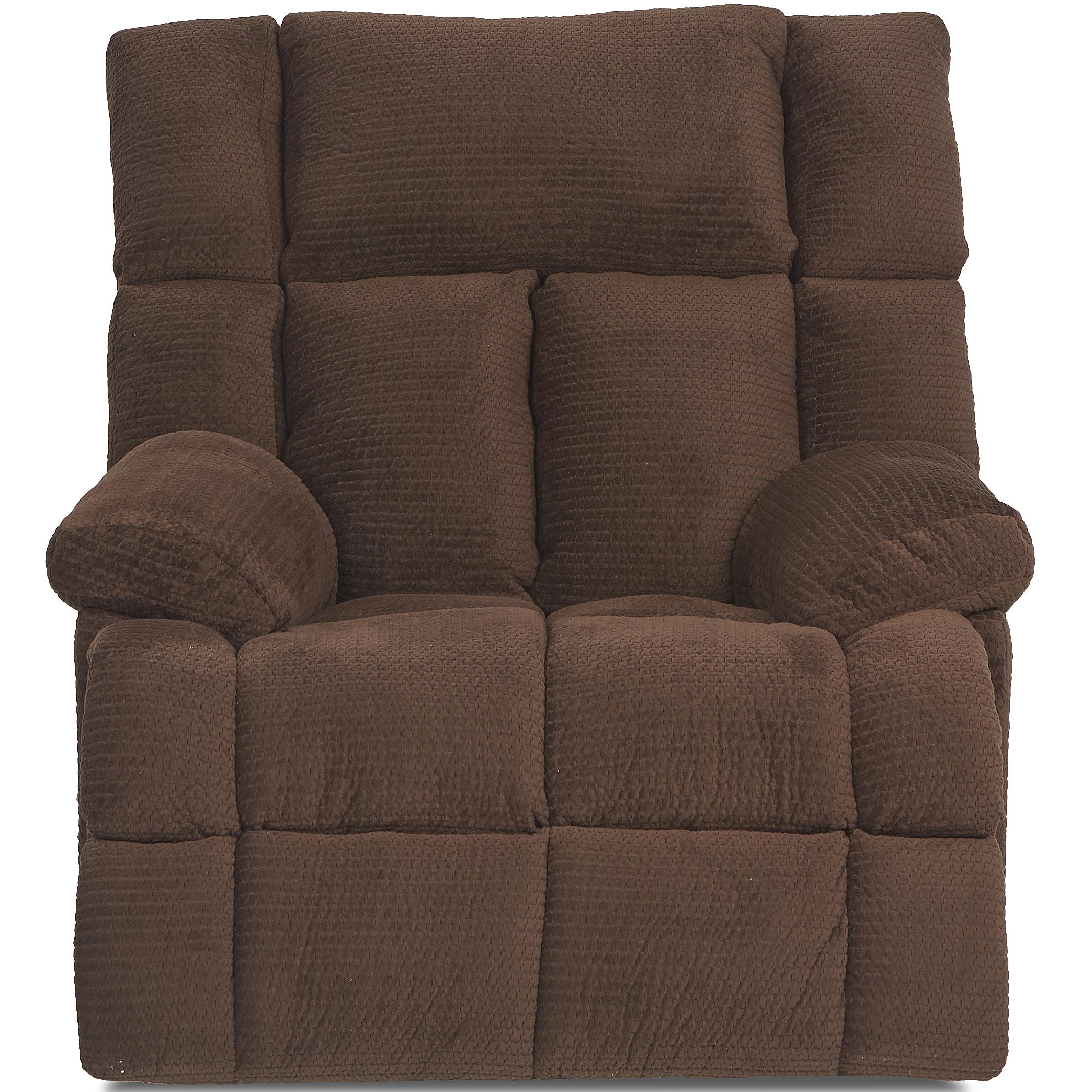 Klaussner General Casual Swivel Glider Recliner - Item Number: 87503H SGRC-MinxChocolate