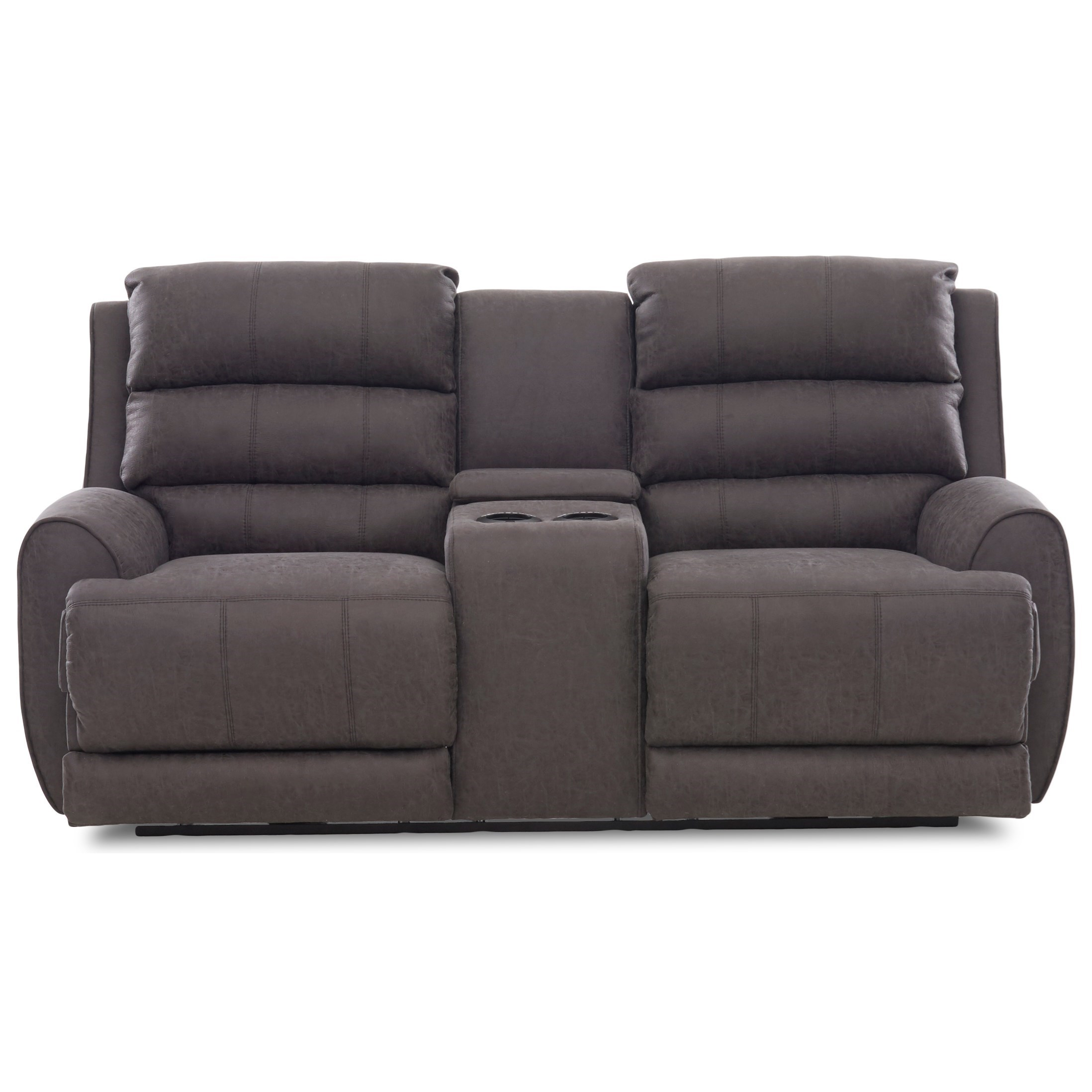 Klaussner Gleeson Contemporary Power Reclining Console Loveseat With
