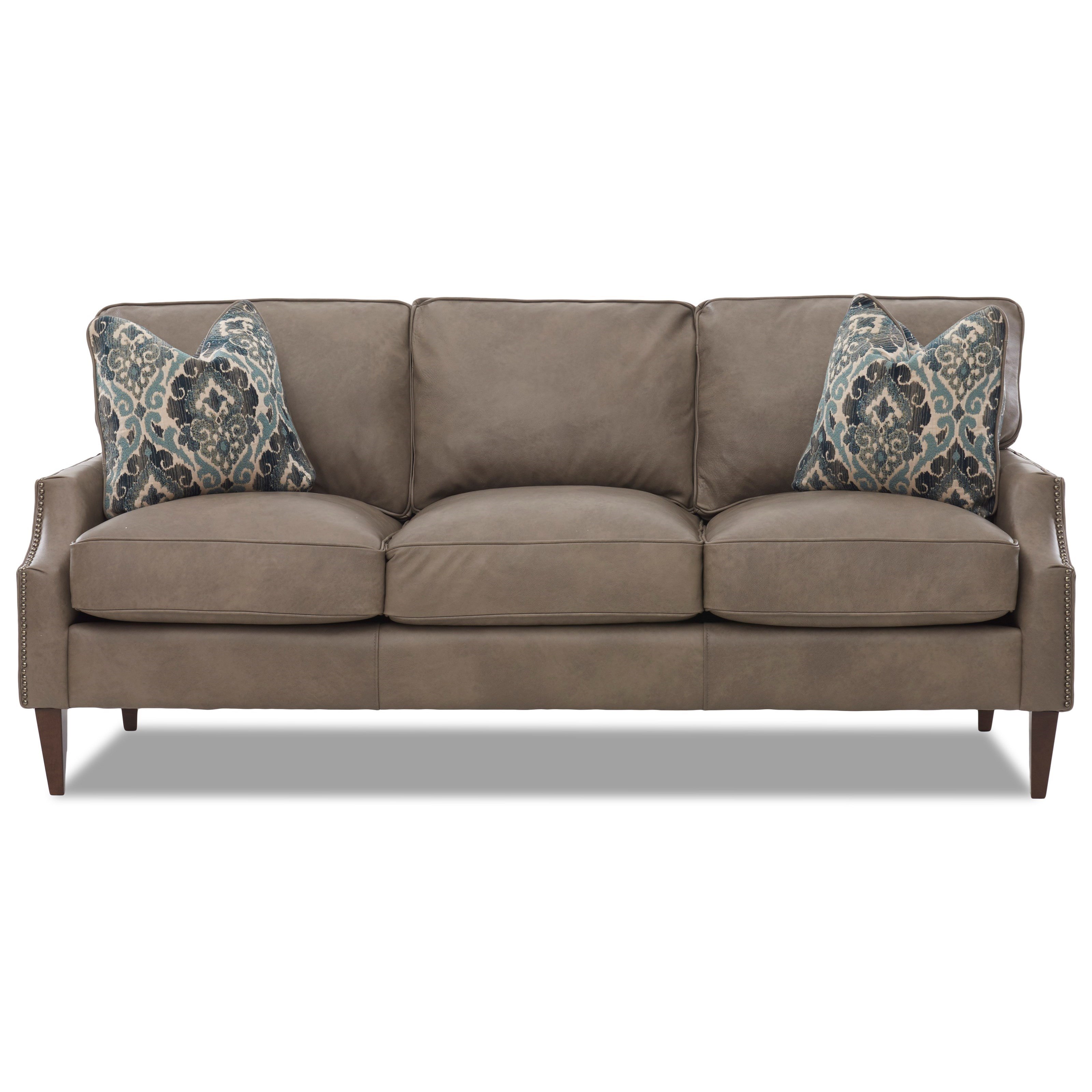 Klaussner Grammercy LD53010AP S Leather Sofa with Arm ...