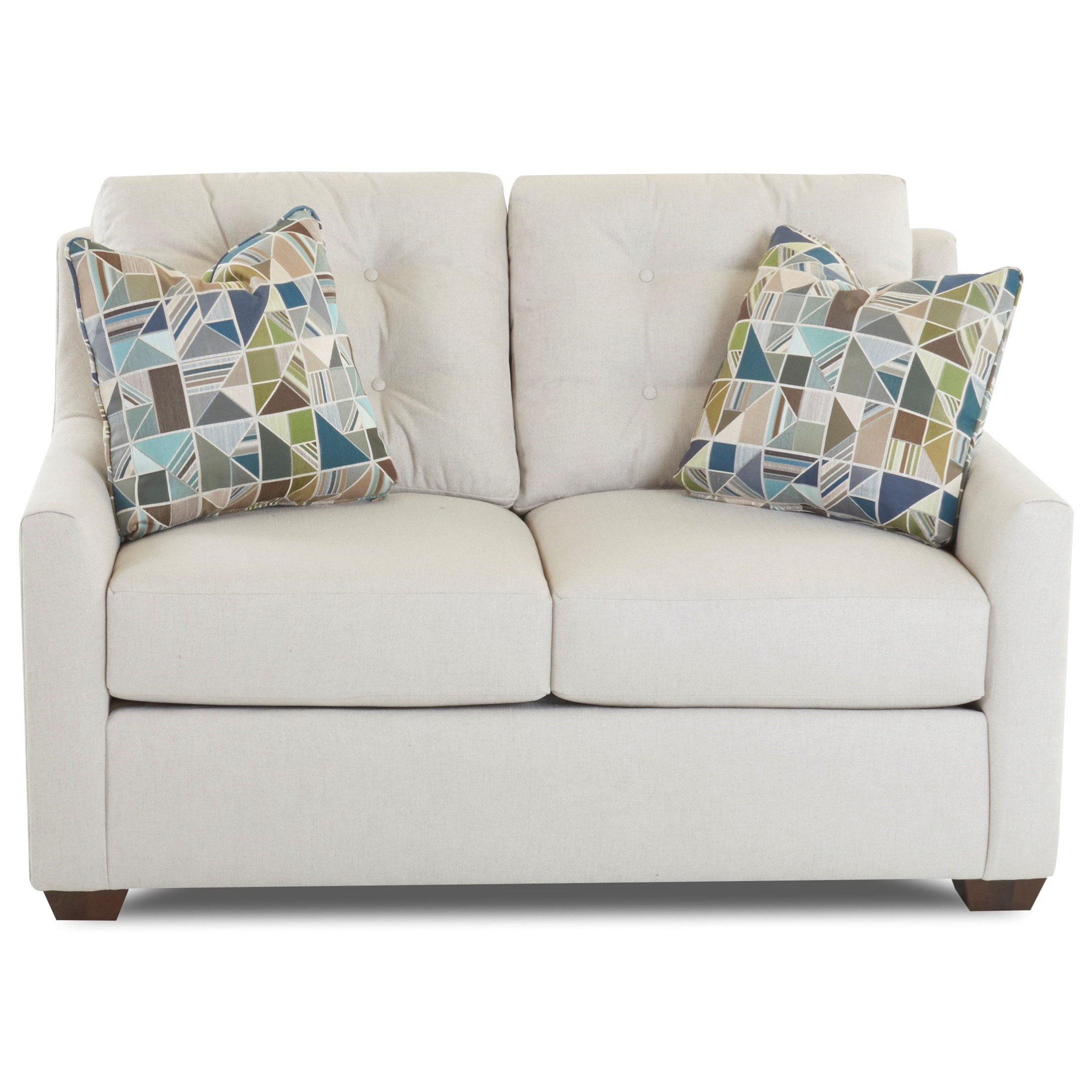 Grayton Loveseat w/ Button Tufting by Klaussner at Johnny Janosik