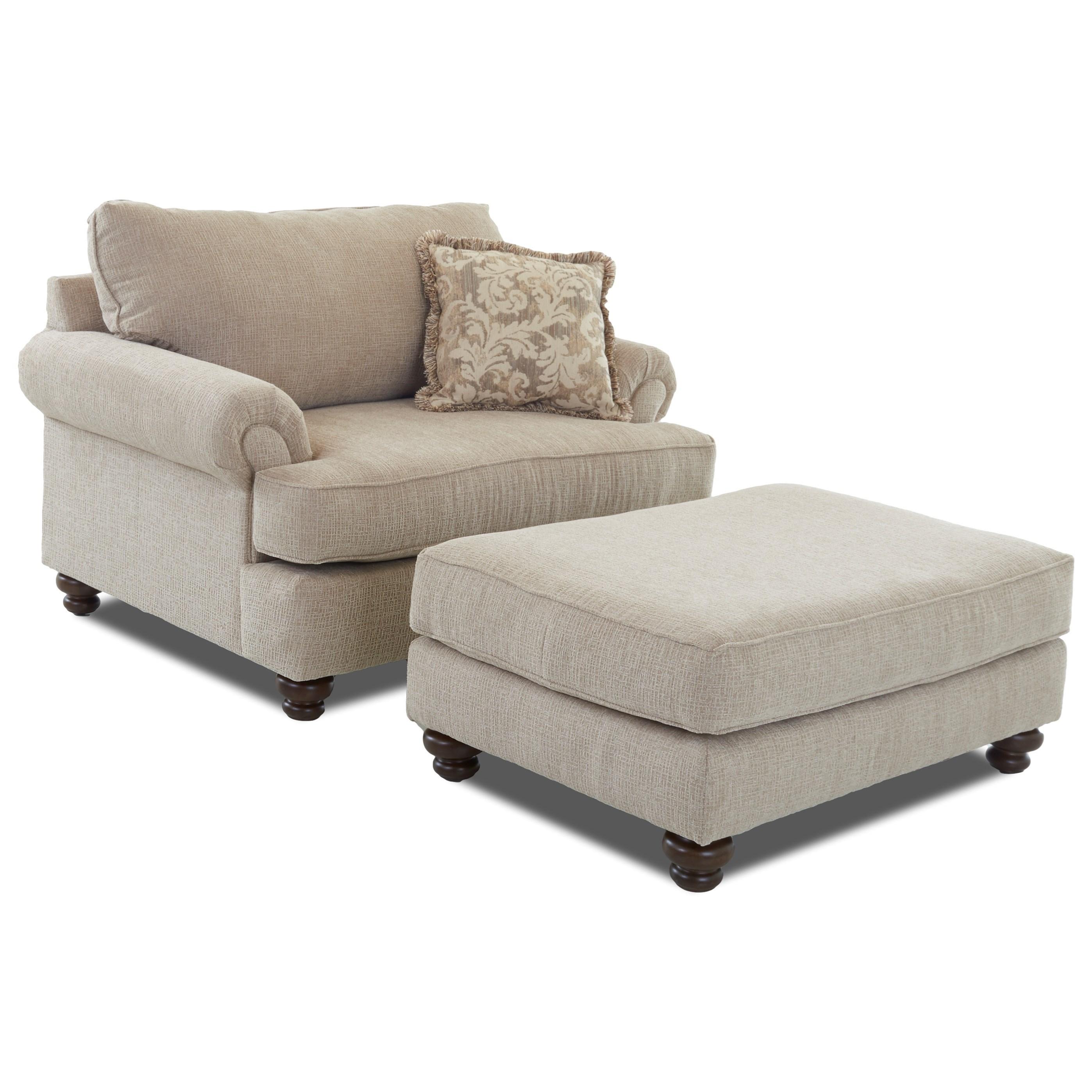 Big Chair & Ottoman Set