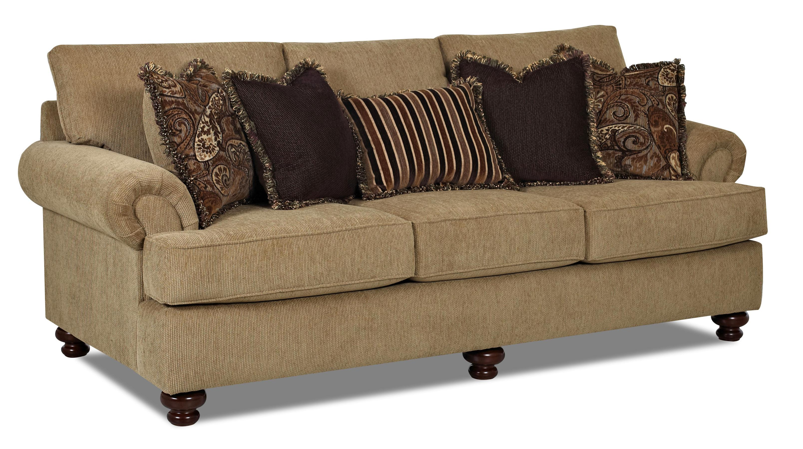 Klaussner Greenvale Traditional Stationary Sofa With