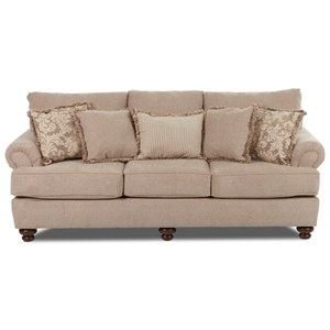 Traditional Stationary Sofa
