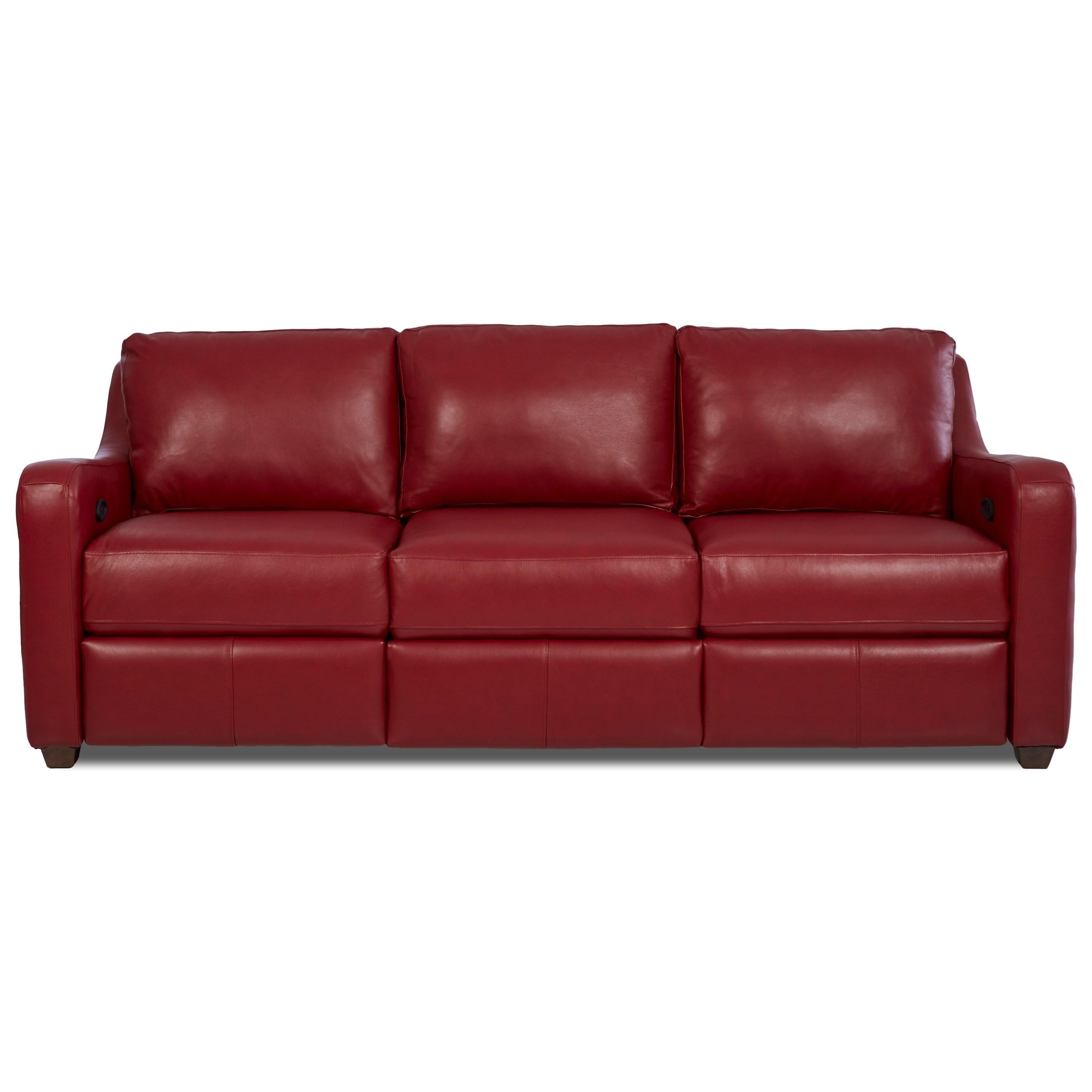 Klaussner Greer Power Hybrid Sofa - Item Number: LV29203 PWHS-DURANGO STRAWBERRY