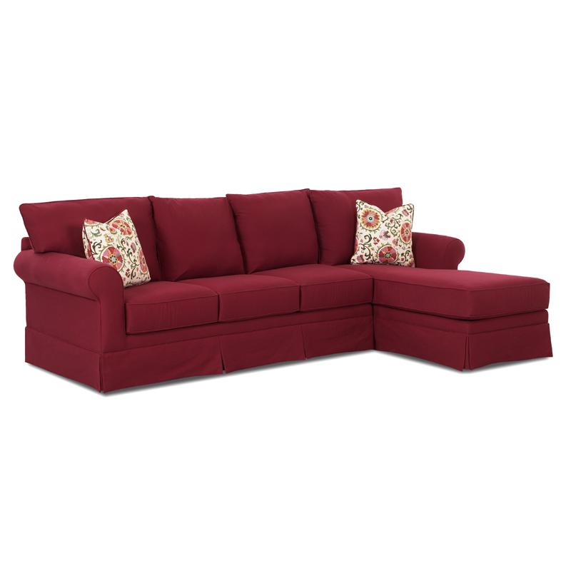 Klaussner Grove Park Sofa with Chaise - Item Number: K7000LS+RCHASE