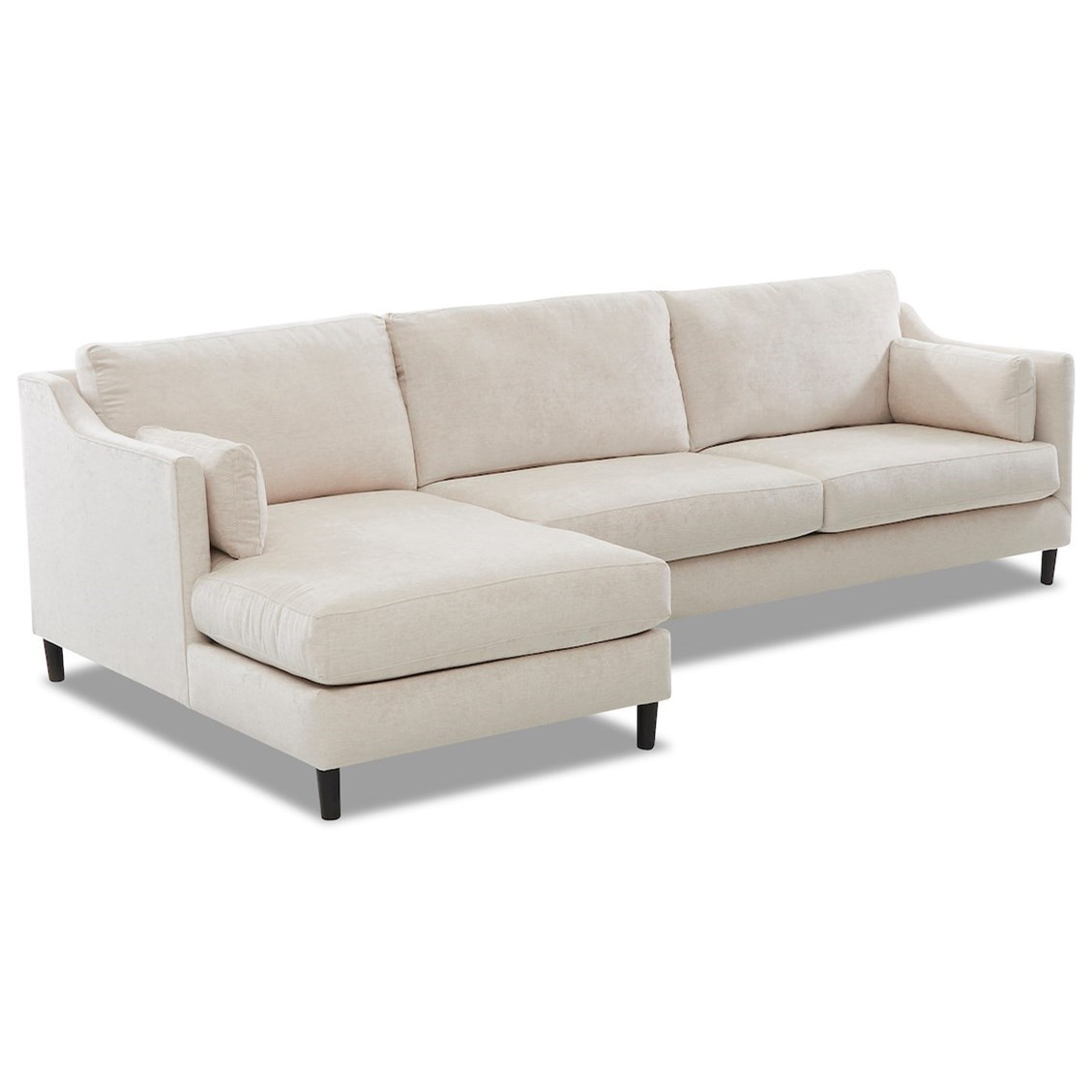 Harlow 3-Seat Modular Chaise Sofa w/ LAF Chaise by Klaussner at Johnny Janosik