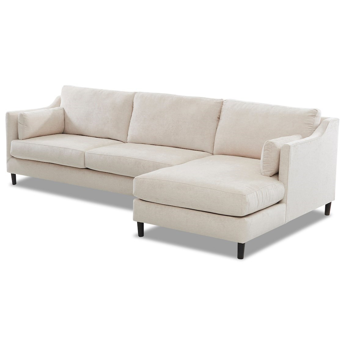 Harlow 3-Seat Modular Chaise Sofa w/ RAF Chaise by Klaussner at Northeast Factory Direct