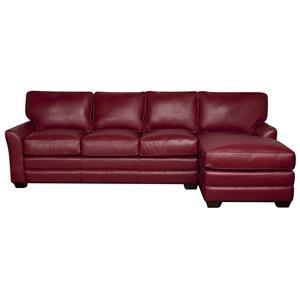 Elliston Place Hayden Hayden 100% Leather 2-Piece Sectional