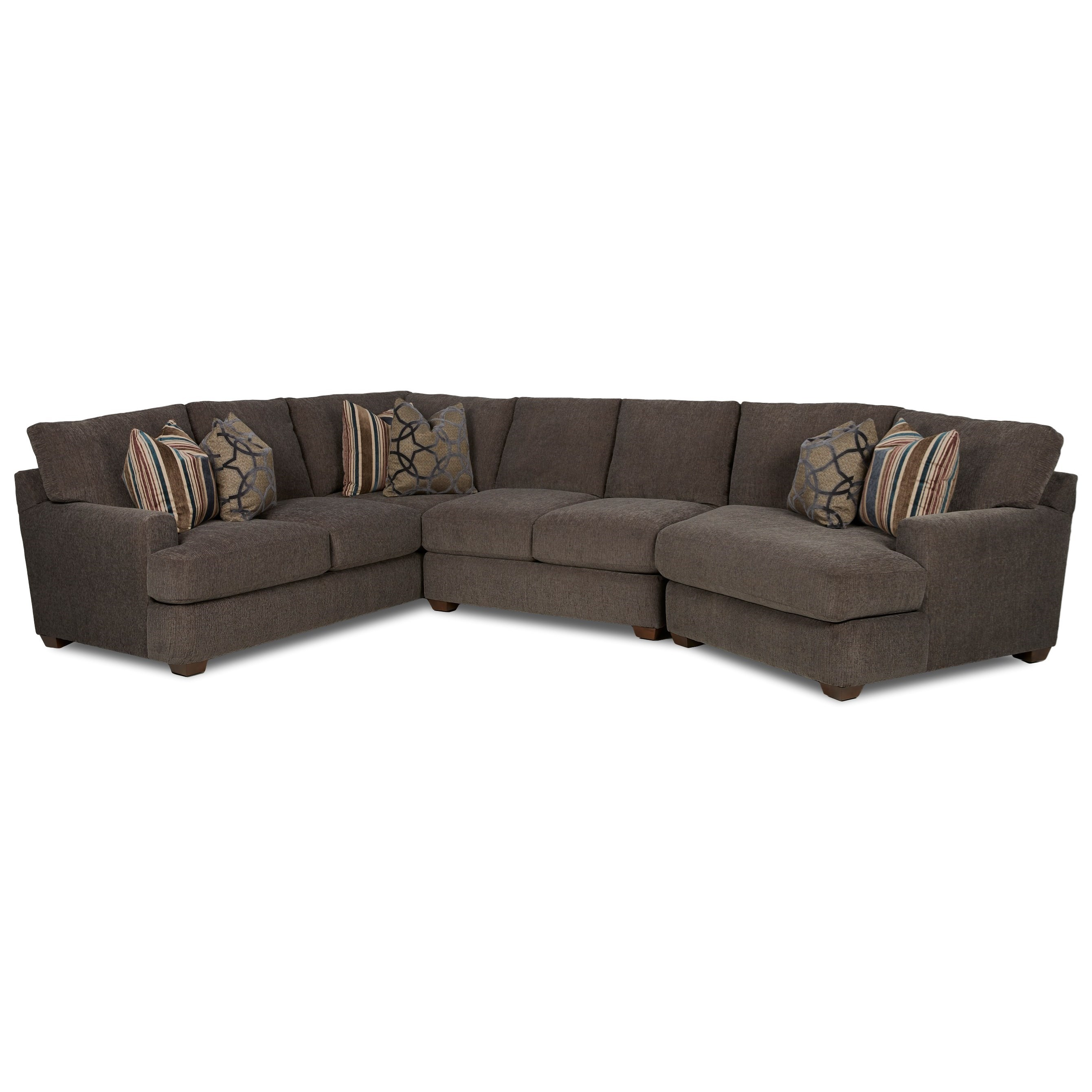 Haynes 3 Pc Sectional Sofa w/ RAF Cuddler by Klaussner at Johnny Janosik