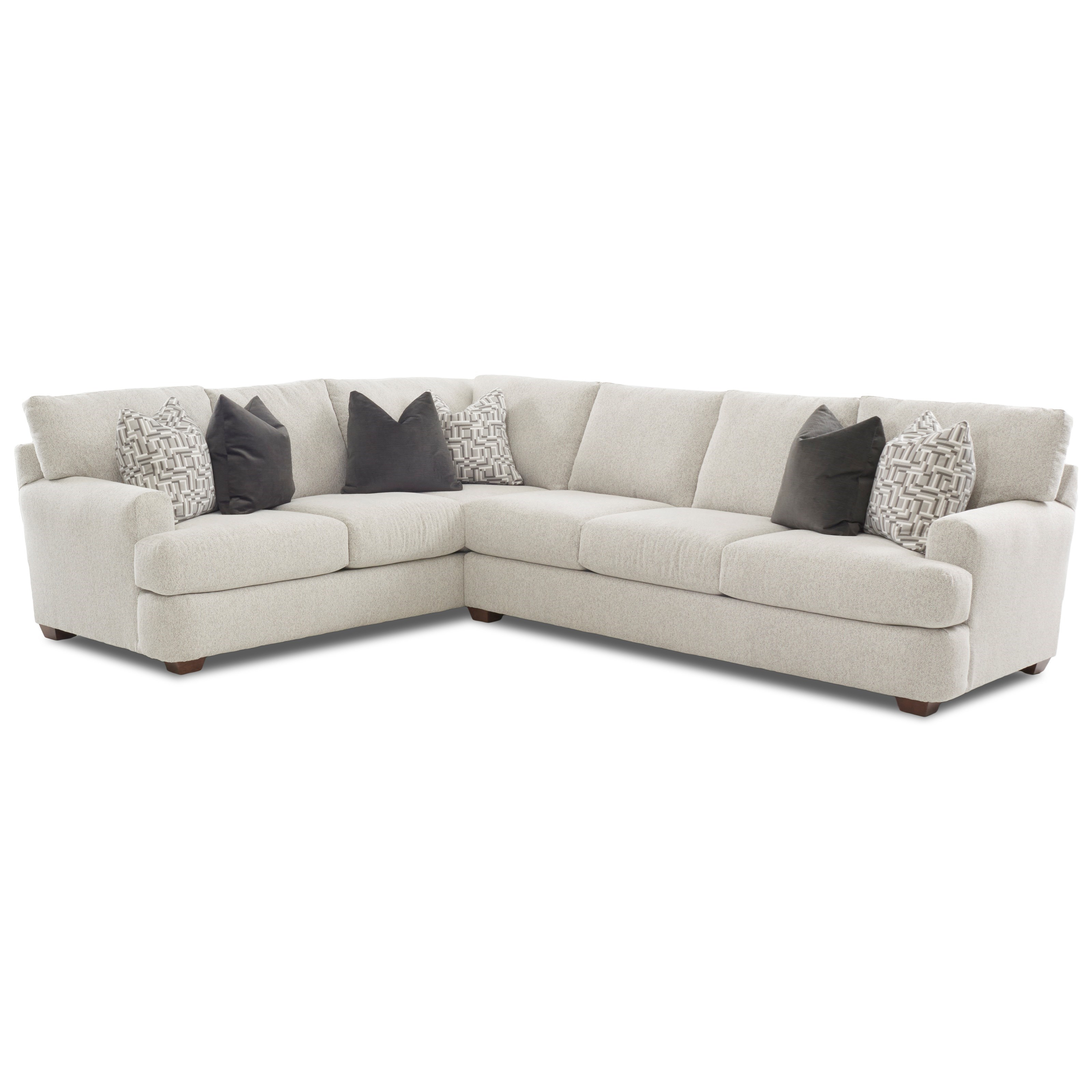 Haynes 2 Pc Sectional Sofa w/ LAF Corner Sofa by Klaussner at Pilgrim Furniture City