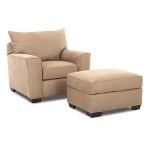 Elliston Place Heather Upholstered Chair & Ottoman