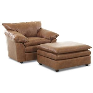 Elliston Place Heights Chair and Ottoman