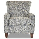 Klaussner Henry Occasional Chair - Item Number: K1500-OC-NESLING INDIGO