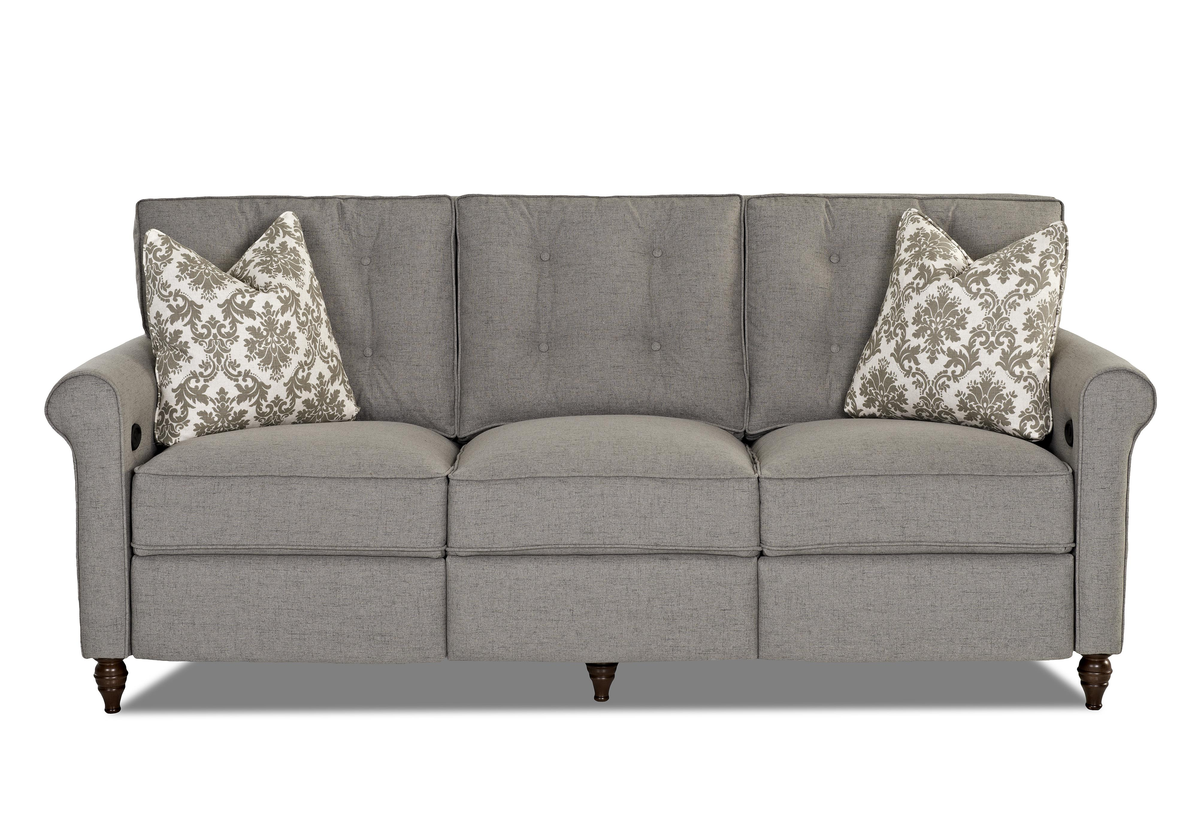 Klaussner Holland Power Hybrid Sofa - Item Number: D84003 PWHS-Luca-Ash