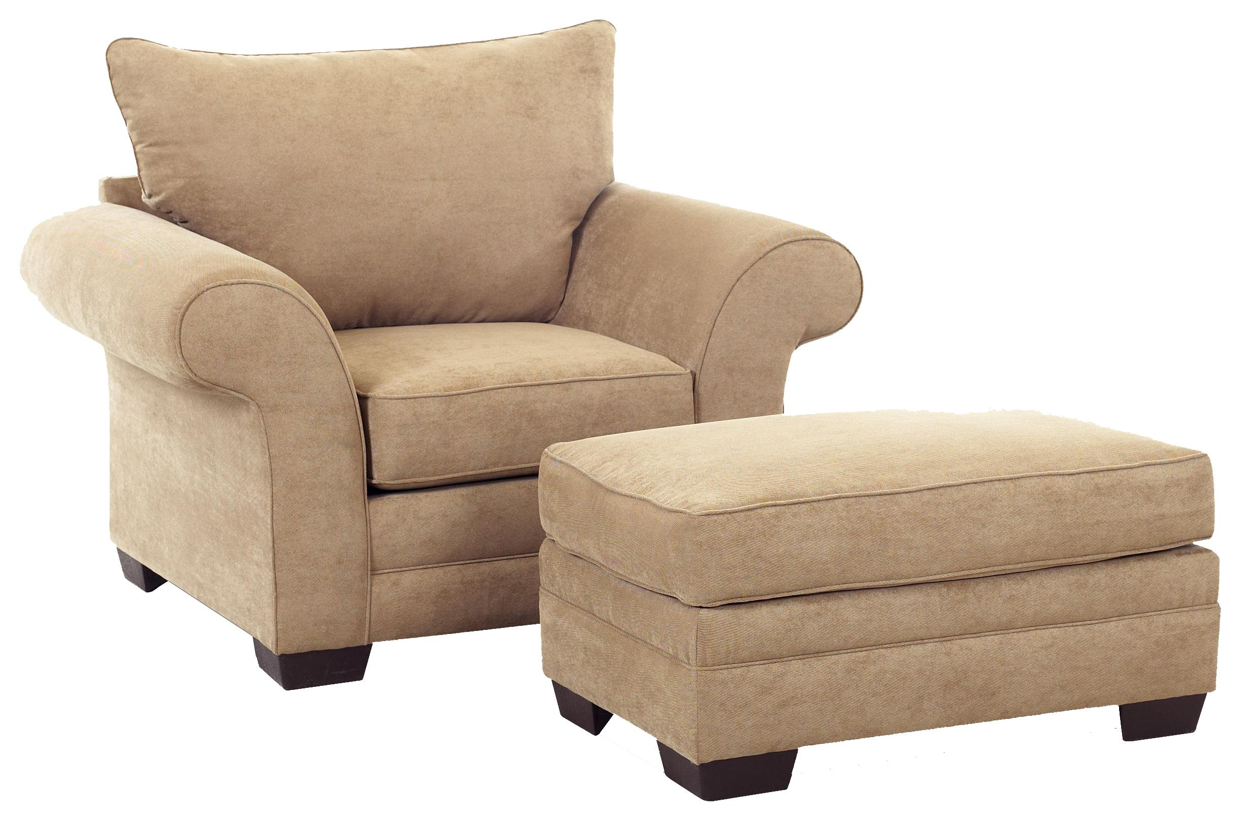 Klaussner Holly Chair and Ottoman - Item Number: E76900C+OTTO