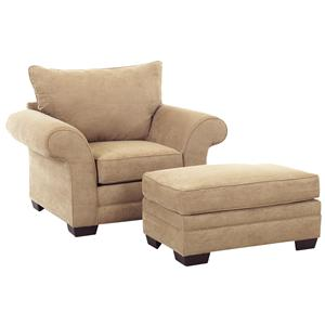 Klaussner Holly Chair and Ottoman