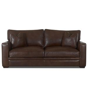 Homestead Leather Sofa by Klaussner