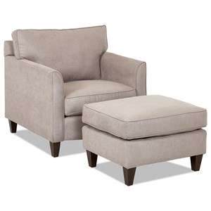 Elliston Place Hopewell  Chair & Ottoman Set
