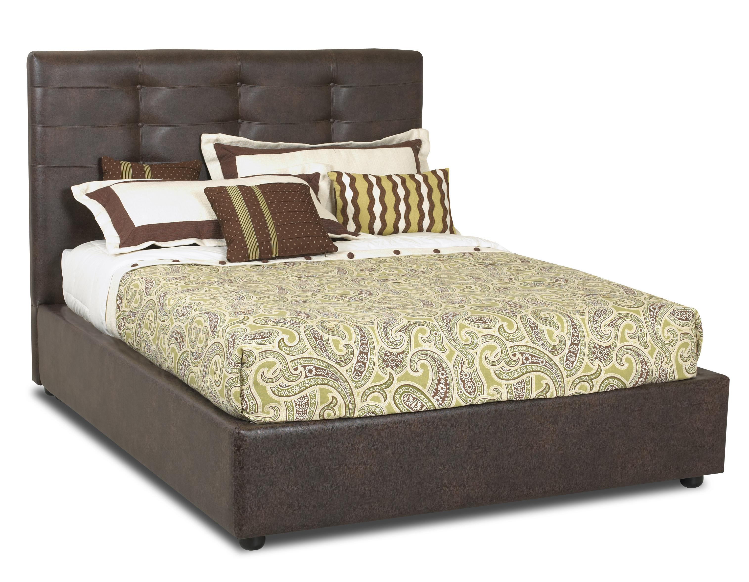 Klaussner Hudson  Queen Bed - Item Number: 478-050+QUEEN PLATF