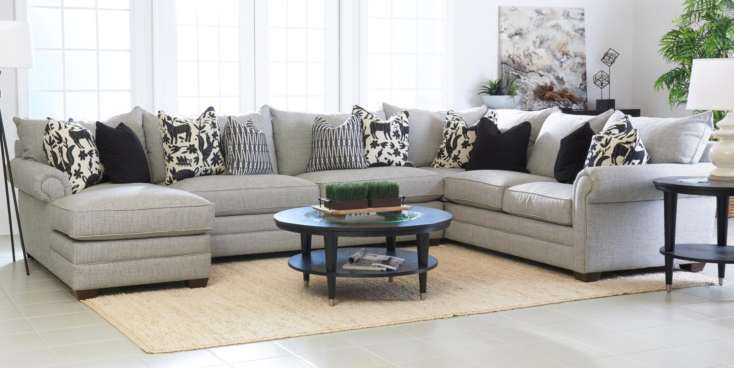 Huntley Four Piece Sectional Sofa with LAF Chaise by Klaussner at Wayside  Furniture