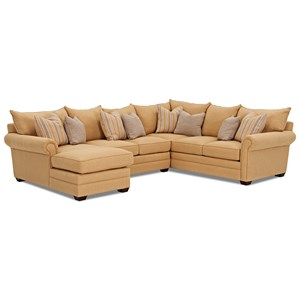 Klaussner Huntley 4 Pc Sectional Sofa w/ LAF Chaise