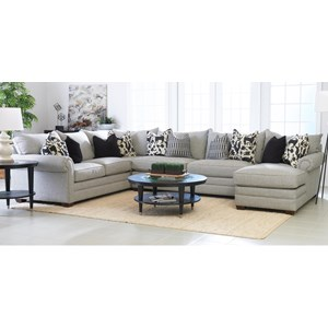 Klaussner Huntley 3 Pc Sectional Sofa w/ RAF Chaise