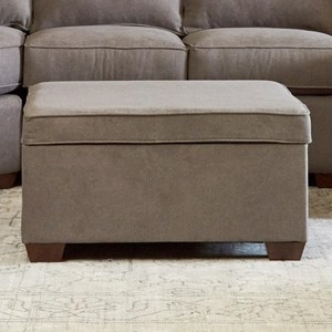 Klaussner Hybrid Storage Ottoman w/ 2 Pillows