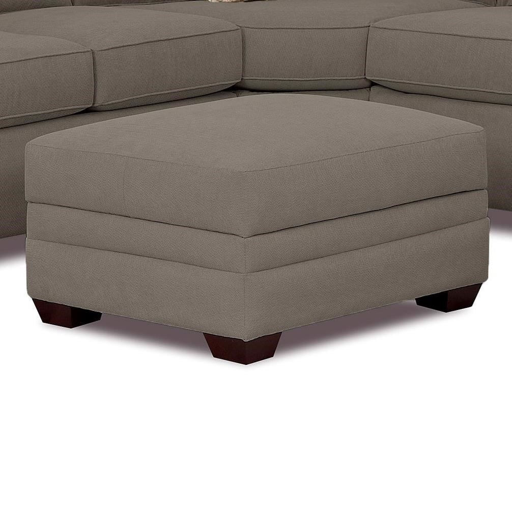 Hybrid Storage Ottoman w/ 2 Pillows by Klaussner at Johnny Janosik