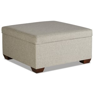 Square Cocktail Storage Ottoman