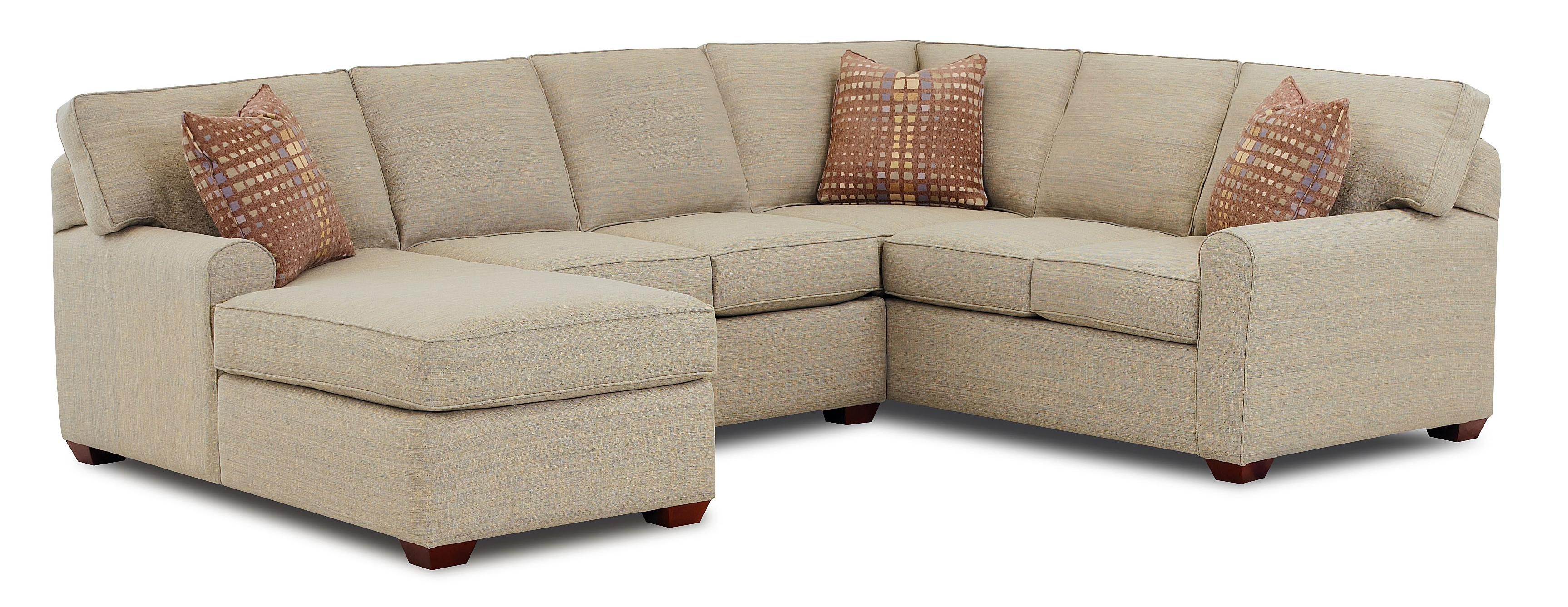 Klaussner Hybrid Sectional Sofa With Left Facing Chaise