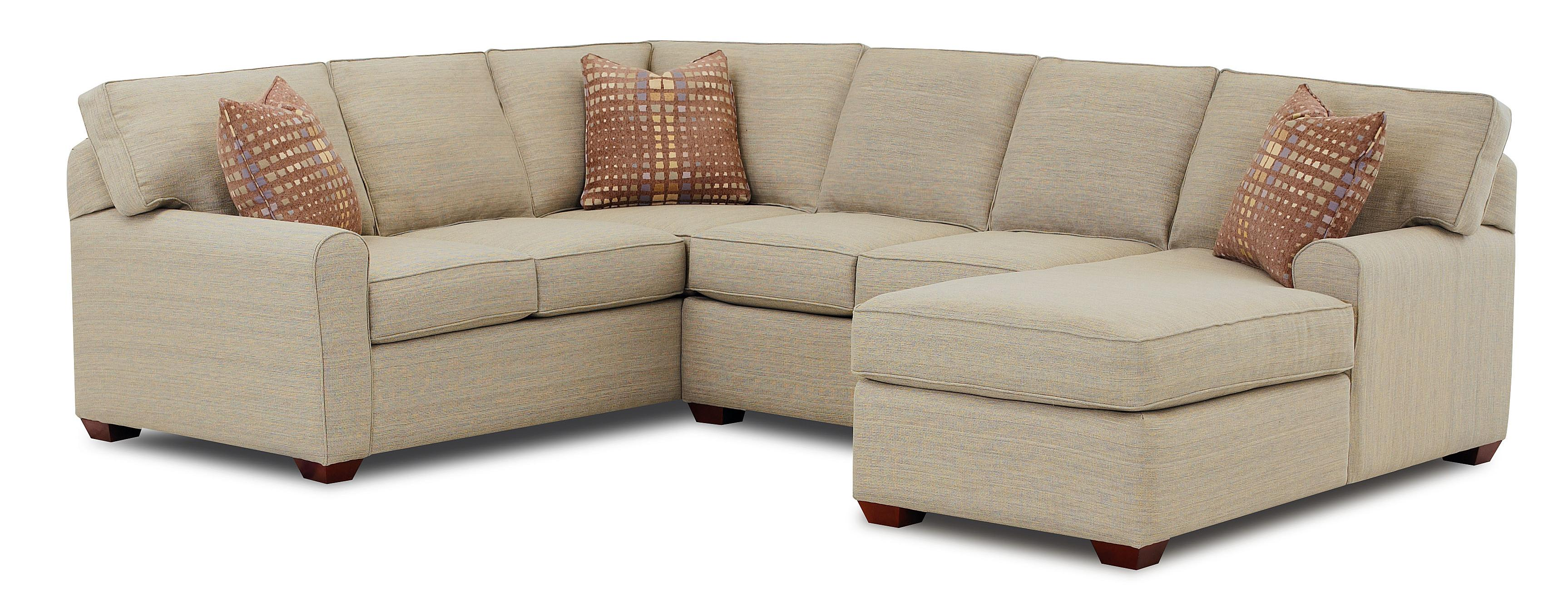 Klaussner Hybrid Sectional Sofa with Right Facing Chaise Lounge